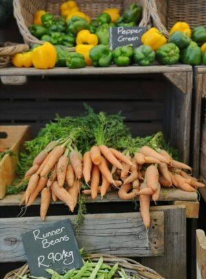 grönsaksmarknad i Kapstaden